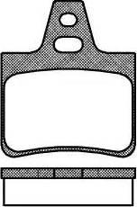 Remsa 0311.00 - Комплект тормозных колодок, дисковый тормоз autodnr.net
