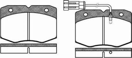 Remsa 0435.12 - Комплект тормозных колодок, дисковый тормоз autodnr.net