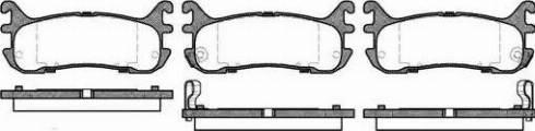 Remsa 0479.02 - Комплект тормозных колодок, дисковый тормоз autodnr.net