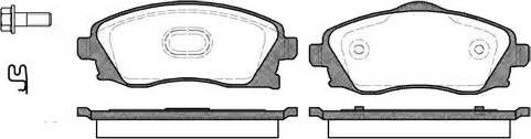 Remsa 0774.02 - Комплект тормозных колодок, дисковый тормоз autodnr.net