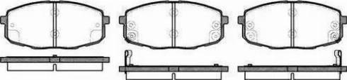 Remsa 1038.02 - Тормозные колодки, дисковые car-mod.com