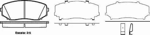 Remsa 1267.02 - Комплект тормозных колодок, дисковый тормоз autodnr.net
