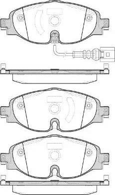 Remsa 1515.01 - Тормозные колодки, дисковые car-mod.com