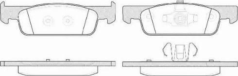Remsa 1540.00 - Тормозные колодки, дисковые car-mod.com