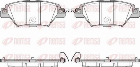 Remsa 1712.04 - Комплект тормозных колодок, дисковый тормоз autodnr.net