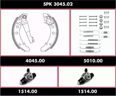 Remsa spk304502 - Комплект тормозов, барабанный тормозной механизм autodnr.net