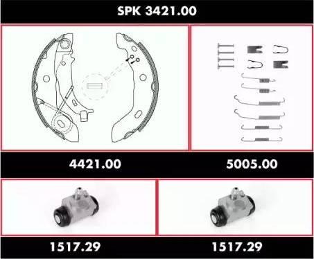 Remsa spk342100 - Комплект тормозов, барабанный тормозной механизм autodnr.net