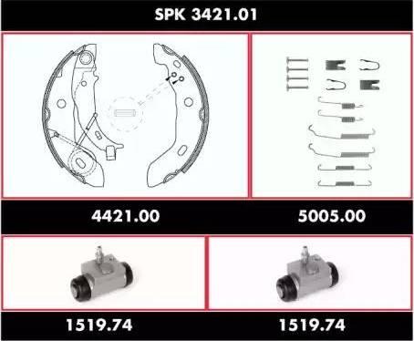 Remsa spk342101 - Комплект тормозов, барабанный тормозной механизм autodnr.net