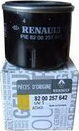 RENAULT 82 00 257 642 - Масляний фільтр autocars.com.ua