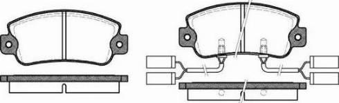 Roadhouse 2025.22 - Комплект тормозных колодок, дисковый тормоз autodnr.net