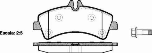 Roadhouse 21247.00 - Комплект тормозных колодок, дисковый тормоз autodnr.net