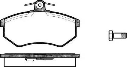 Roadhouse 2134.00 - Комплект тормозных колодок, дисковый тормоз autodnr.net
