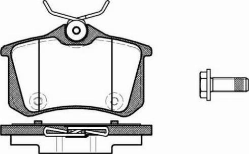 Roadhouse 21391.10 - Комплект тормозных колодок, дисковый тормоз autodnr.net