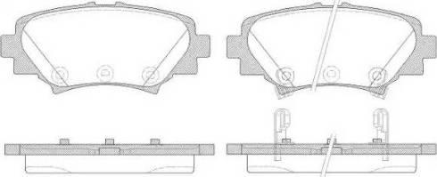 Roadhouse 21570.02 - Комплект тормозных колодок, дисковый тормоз autodnr.net