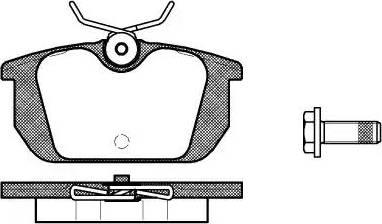 Roadhouse 2231.00 - Комплект тормозных колодок, дисковый тормоз autodnr.net
