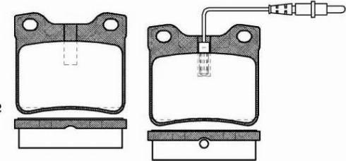Roadhouse 2321.22 - Комплект тормозных колодок, дисковый тормоз autodnr.net