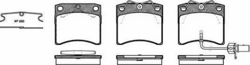 Roadhouse 2385.11 - Комплект тормозных колодок, дисковый тормоз autodnr.net