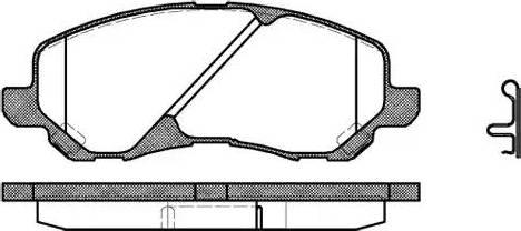 Roadhouse 2804.02 - Комплект тормозных колодок, дисковый тормоз autodnr.net