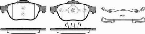 Roadhouse 2843.00 - Комплект тормозных колодок, дисковый тормоз autodnr.net