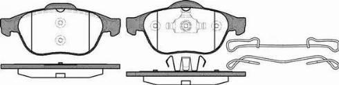 Roadhouse 2843.10 - Комплект тормозных колодок, дисковый тормоз autodnr.net
