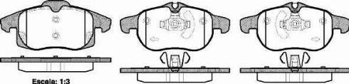 Roadhouse 2888.40 - Комплект тормозных колодок, дисковый тормоз autodnr.net