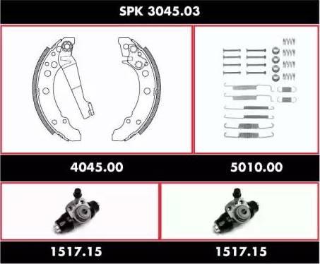 Roadhouse spk304503 - Комплект тормозов, барабанный тормозной механизм autodnr.net
