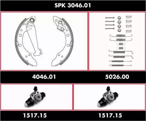 Roadhouse spk304601 - Комплект тормозов, барабанный тормозной механизм autodnr.net