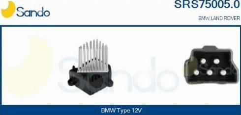 Sando SRS75005.0 - Сопротивление, реле, вентилятор салона car-mod.com