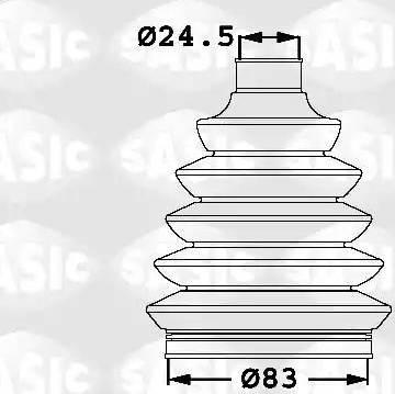 Sasic 1906005 - Комплект пылника, приводной вал autodnr.net