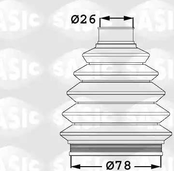 Sasic 1906021 - Комплект пыльника, приводной вал car-mod.com