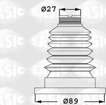 Sasic 1906040 - Комплект пылника, приводной вал autodnr.net