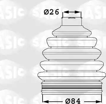 Sasic 1906053 - Комплект пылника, приводной вал autodnr.net
