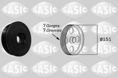Sasic 2154018 - Ремінний шків, колінчастий вал autocars.com.ua