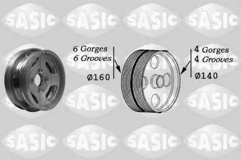 Sasic 2156037 - Ремінний шків, колінчастий вал autocars.com.ua