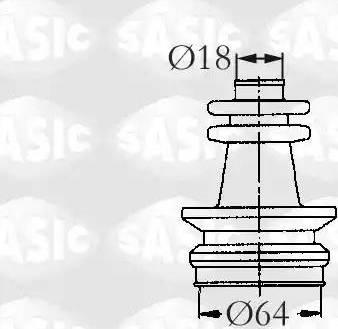 Sasic 2873653 - Комплект пилника, приводний вал autocars.com.ua