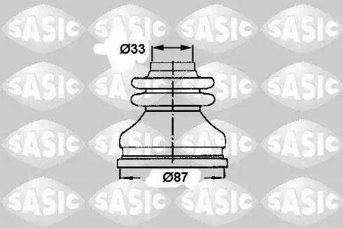Sasic 2873783 - Комплект пилника, приводний вал autocars.com.ua