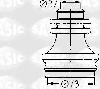 Sasic 4003462 - Комплект пилника, приводний вал autocars.com.ua