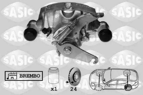 Sasic 6506174 - Тормозной суппорт avtokuzovplus.com.ua