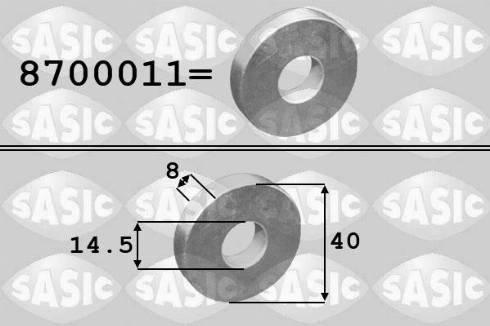 Sasic 8700011 - Плоская шайба, ременный шкив - коленчатый вал car-mod.com