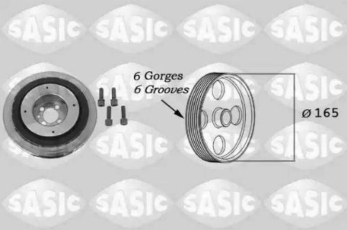Sasic 9001813 - Ремінний шків, колінчастий вал autocars.com.ua