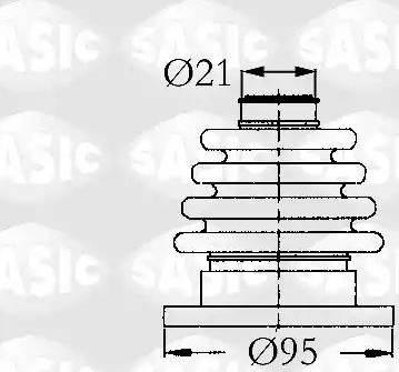 Sasic 9004603 - Комплект пылника, приводной вал autodnr.net