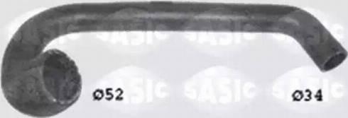 Sasic SWH6723 - Шланг радиатора autodnr.net