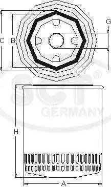 SCT Germany SM 5025 - Масляний фільтр autocars.com.ua