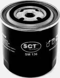 SCT Germany SM 136 - Масляний фільтр autocars.com.ua