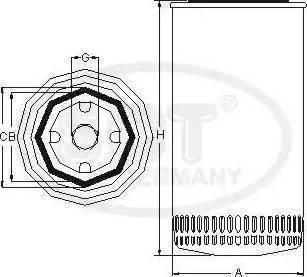 SCT Germany SZ 7701 - Повітряний фільтр, компресор - підсмоктування повітря autocars.com.ua