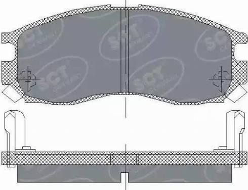 SCT Germany SP 133 PR - Комплект тормозных колодок, дисковый тормоз autodnr.net