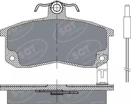 SCT Germany SP 216 PR - Комплект тормозных колодок, дисковый тормоз autodnr.net