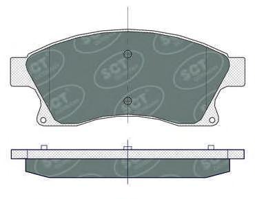 SCT Germany SP359 - Тормозные колодки, дисковые car-mod.com