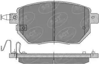 SCT Germany SP 392 PR - Тормозные колодки, дисковые car-mod.com