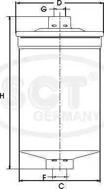 SCT Germany ST 329 - Топливный фильтр autodnr.net